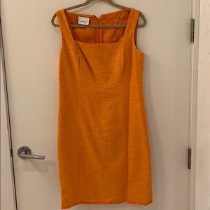 Akris punto orange tweed dress